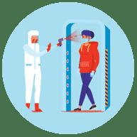 Un accès à sens unique empêche COVID-19