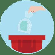 Élimination des déchets COVID-19