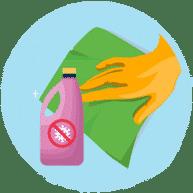 Utilisez un chiffon propre