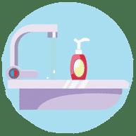 Fournir du gel pour soupe et alcool COVID-19
