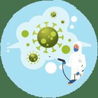 Spray désinfectant et ozone